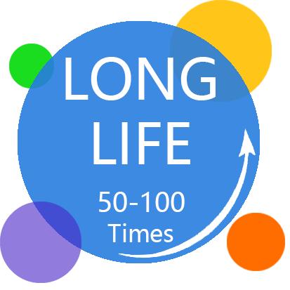 Long life 50-100 times