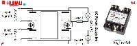 The picture and wiring diagram of single phase dual solid state relays
