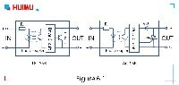 The internal equivalent circuit diagram of solid-state relays