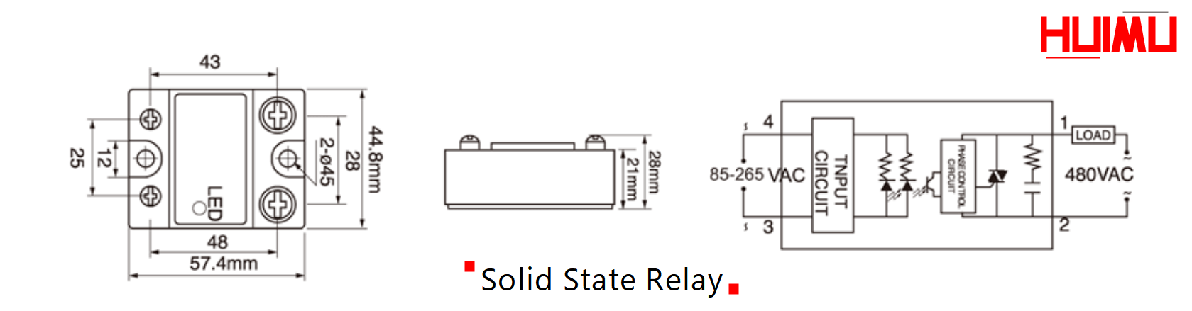 Solid-state relay diagram