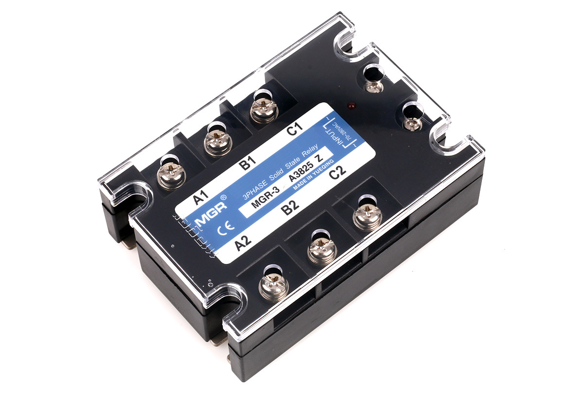 Mager MGR-3A series three phase AC to AC solid state relay, MGR 3 A3825Z│HUIMULTD