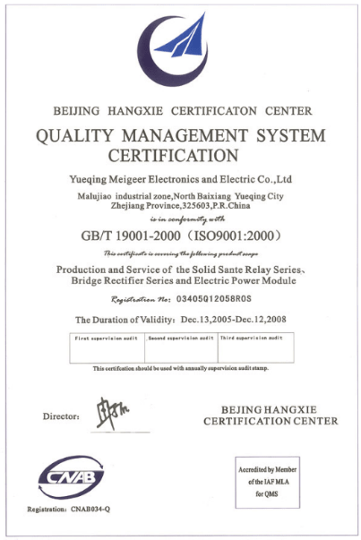 QUALITY MANAGEMENT SYSTEM CERIFICATION