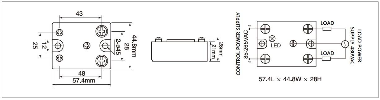 Dimension and circuit diagram - MGR 1AKB series