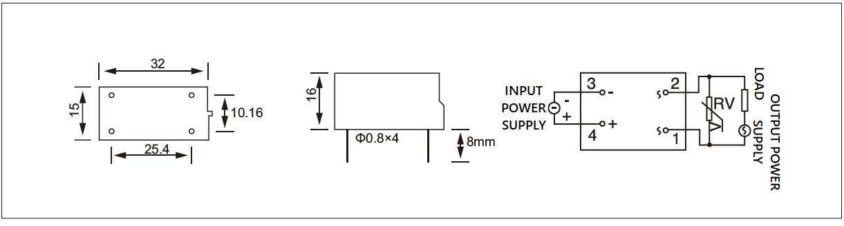 Dimension and circuit diagram - JGX (F) series
