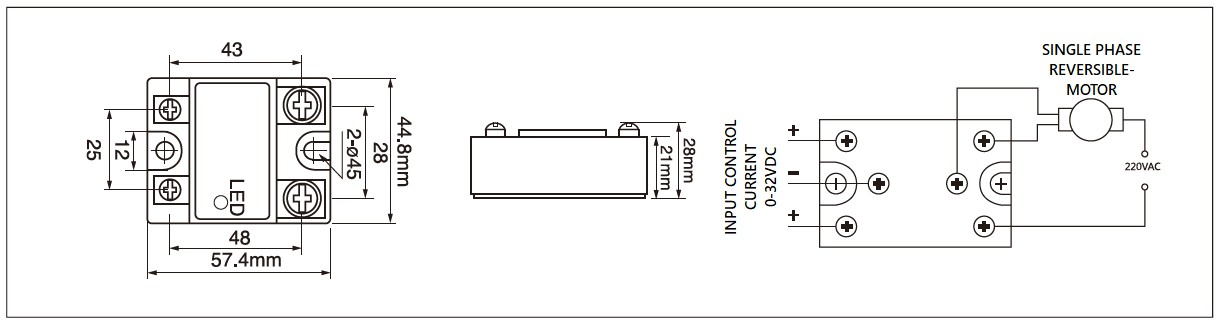 Dimensions,_circuit_wiring_diagram,_schematic_of_mager_MGR_1M4810_single_phase_AC_motor_reversing_solid_state_relay│HUIMULTD