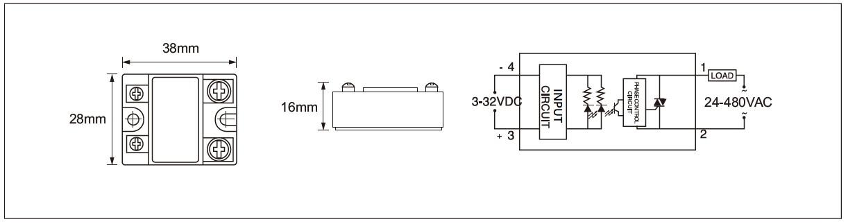Dimension and circuit diagram - MGR 1X series