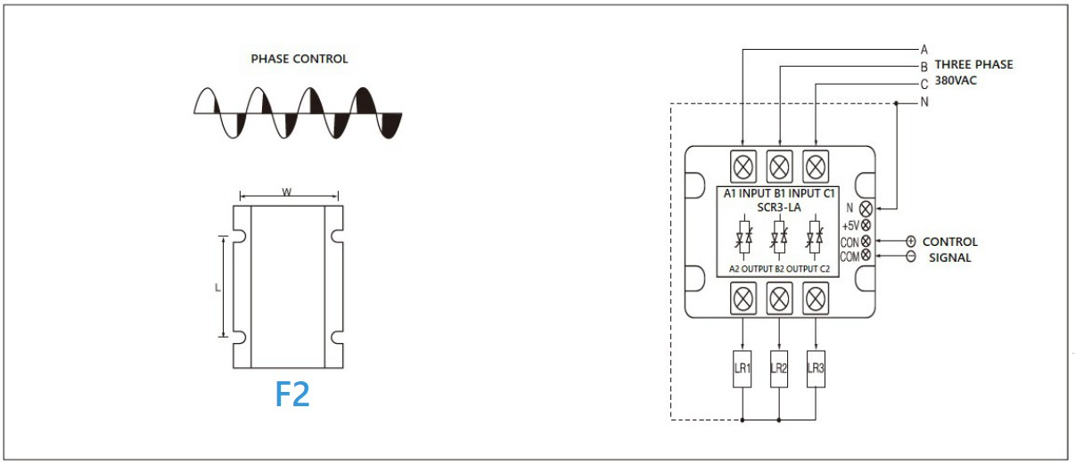Dimension and circuit diagram - MGR SCR3 (LA) series