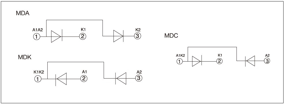 MDC, MDA, MDK, MDX Series Diagram