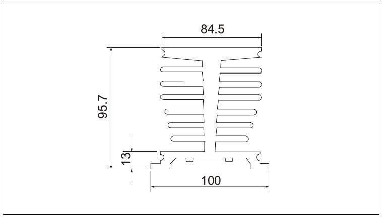 Diagram - Air Cooled Radiator Heat-Sink-G