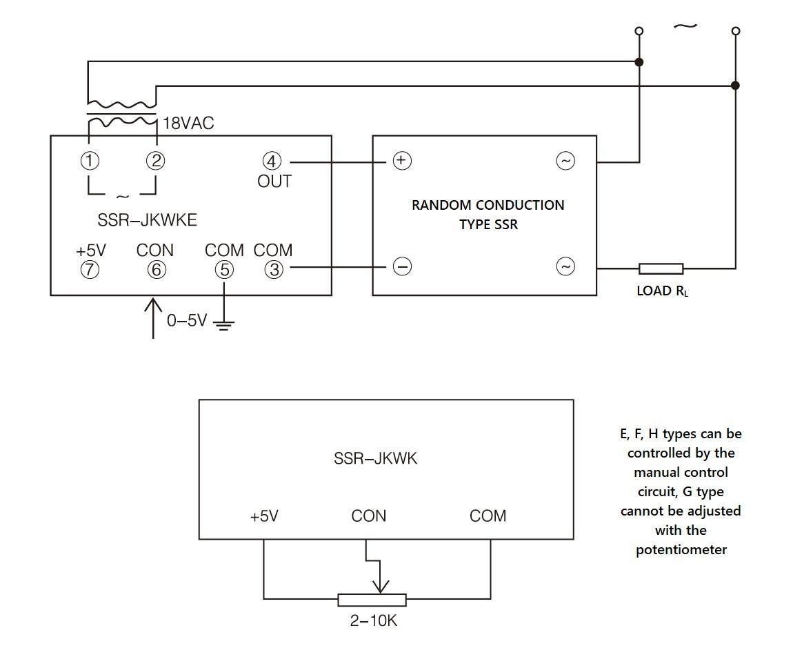 SSR-JK Series, Circuit Wiring Diagram