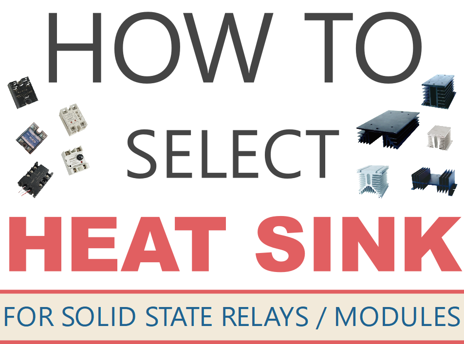 How to select the heat sink for SSR and SSM?