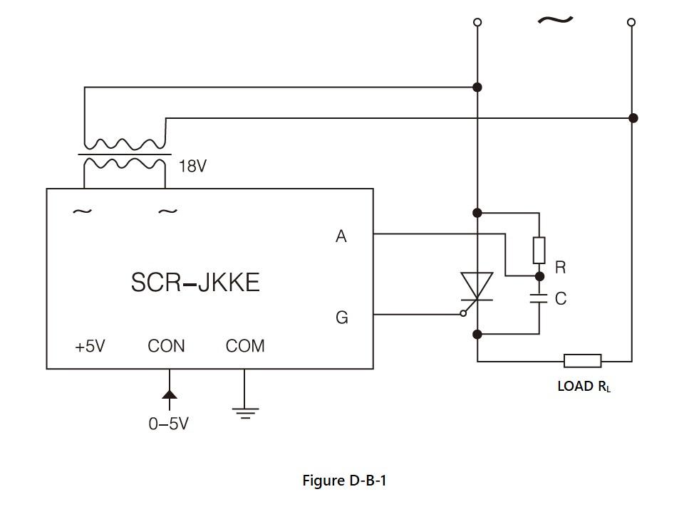 SCR-JKK Series, Circuit Wiring Diagram (1), dv/dt improved version