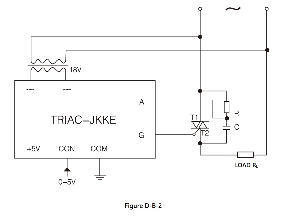 TRIAC-JKK Series, Circuit Wiring Diagram (1), dv/dt improved version