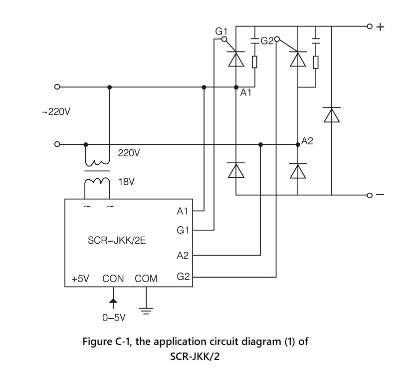 SCR-JKK/2 Series, Circuit Wiring Diagram (1)
