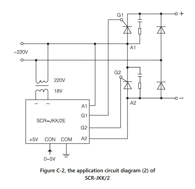 SCR-JKK/2 Series, Circuit Wiring Diagram (2)