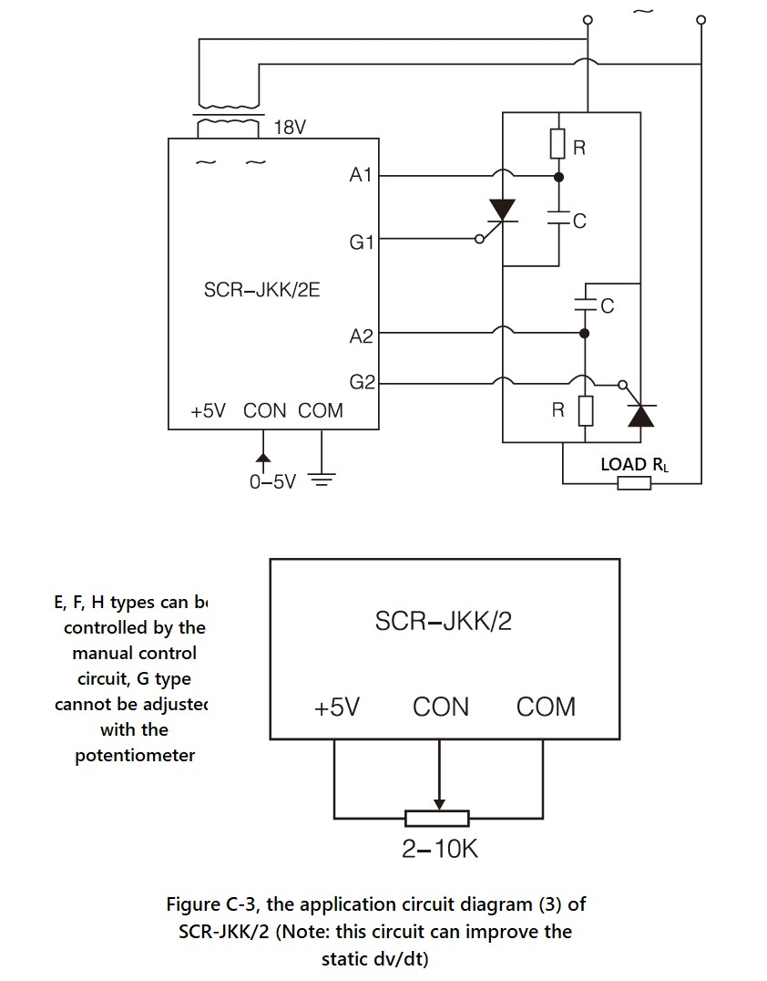 SCR-JKK/2 Series, Circuit Wiring Diagram (3)