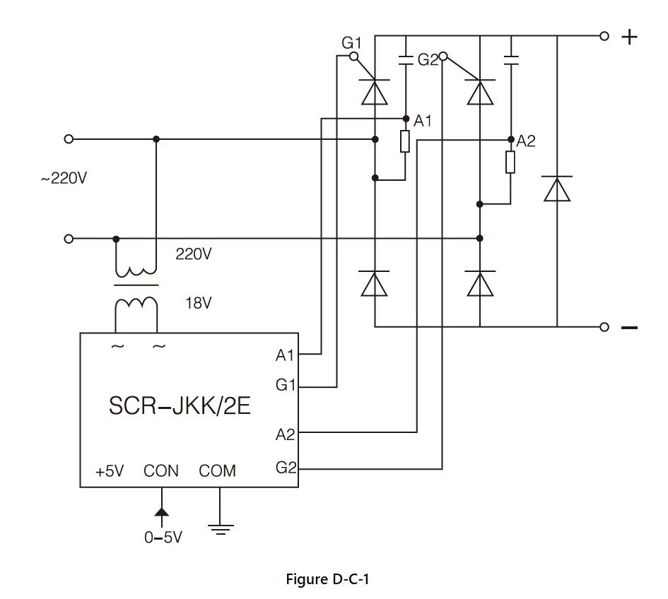 SCR-JKK/2 Series, Circuit Wiring Diagram (1), dv/dt improved version