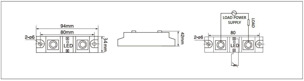 Dimension and circuit diagram - MGR HVR series
