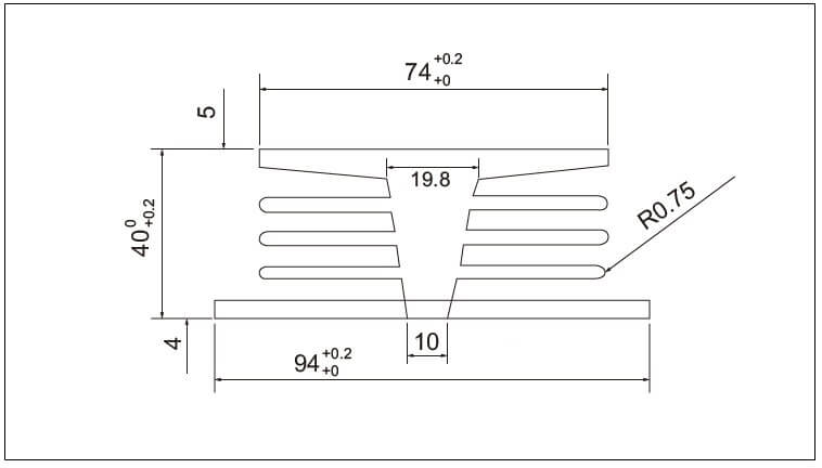 Diagram - Air Cooled Radiator Heat-Sink-E