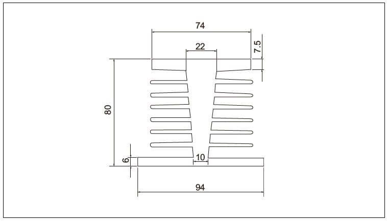 Diagram - Air Cooled Radiator Heat-Sink-K