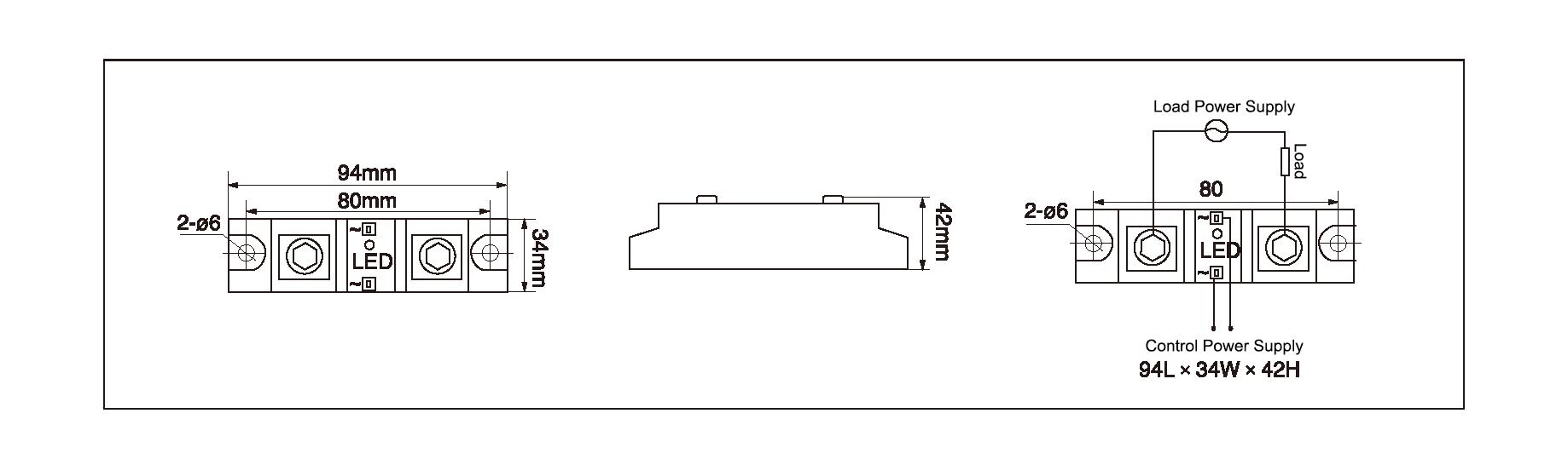 Dimension and circuit diagram - MGR H12 series