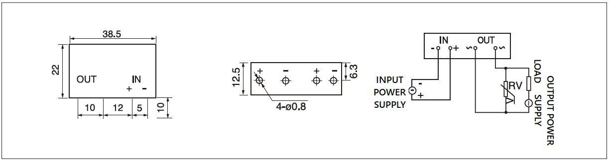 Dimension and circuit diagram - GJ (L) series