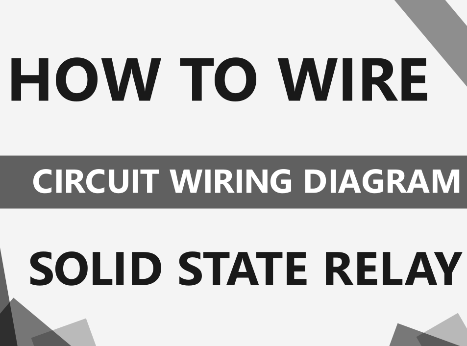 How to wire the solid state relay?