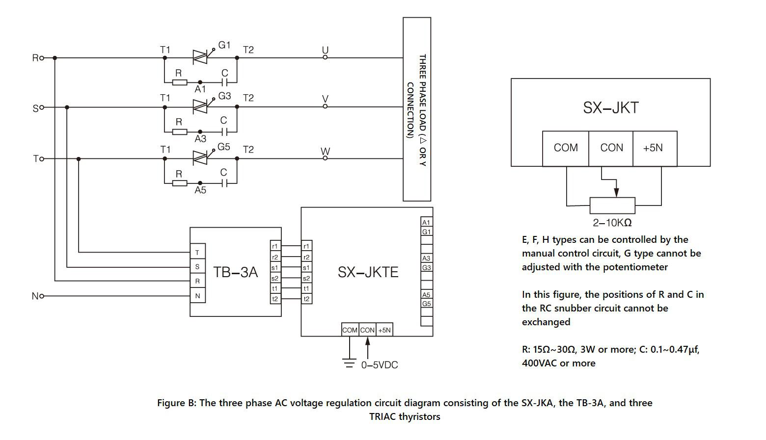 Circuit diagram and Wiring diagram - SX JKT series
