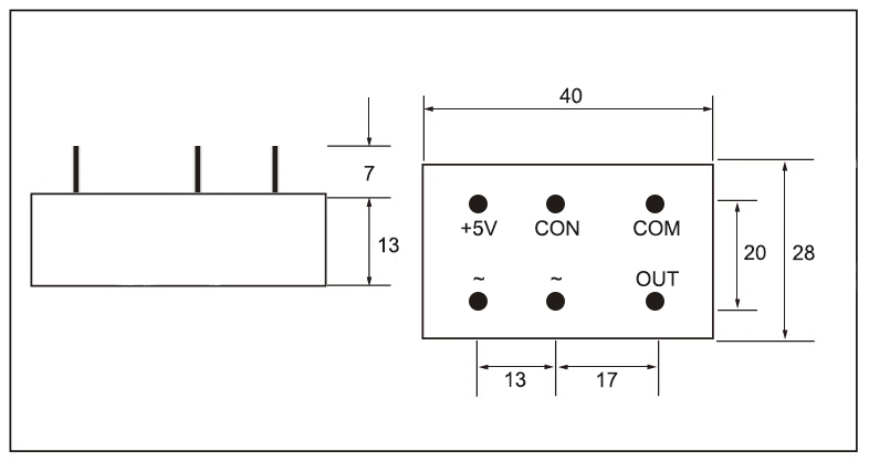 Dimensions_of_mager_SSR-JKZK_series_single_phase_phase_shift_trigger_module_(PCB_mount)│HUIMULTD