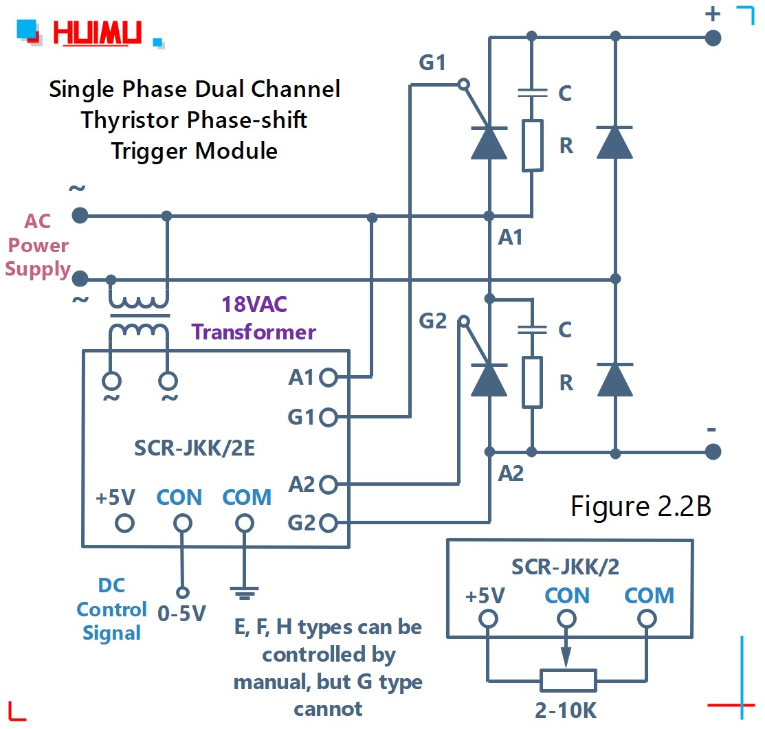 How to wire MGR mager single phase dual channel thyristor phase-shift trigger module (SCR-JKK/2)? More detail via www.@huimultd.com