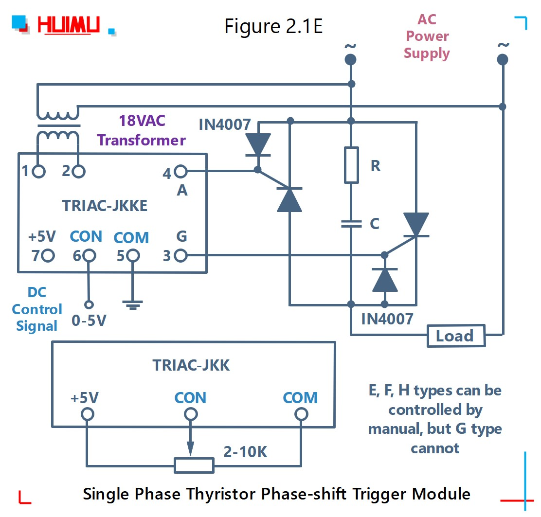 How to wire MGR mager TRAIC-JKK single phase thyristor phase-shift trigger module? More detail via www.@huimultd.com