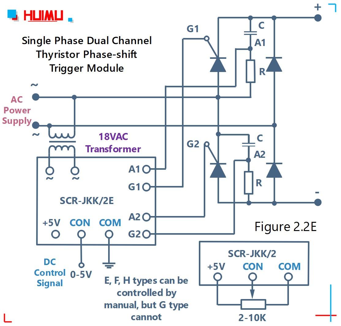 How to wire MGR mager single phase dual channel thyristor phase-shift trigger module (SCR-JKK/2) (static dv/dt improved version)? More detail via www.@huimultd.com
