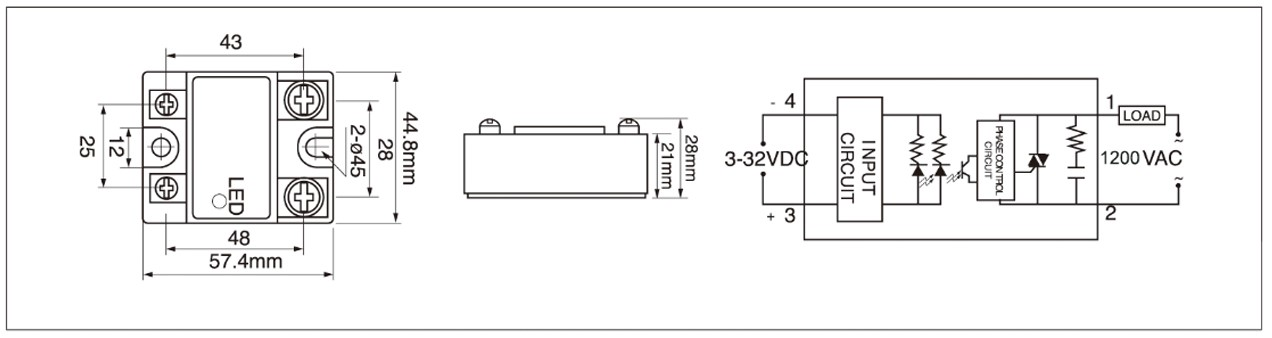MGR-1D Series Panel Mount Solid State Relay Zero-Crossing Diagram