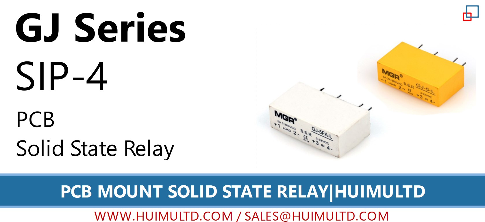 GJ series PCB Mount Solid State Relay