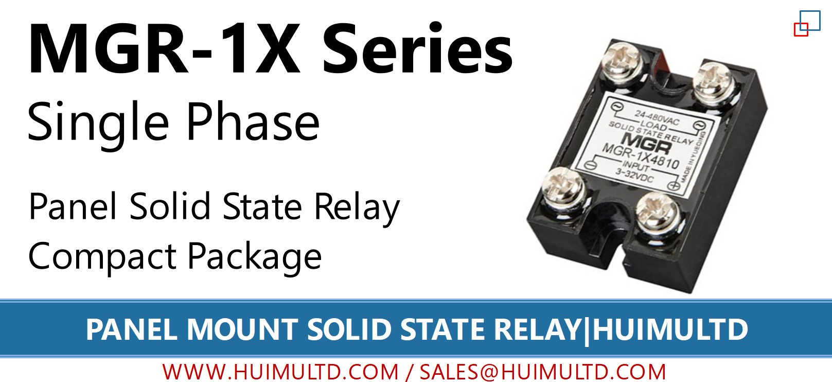MGR-1X Series Panel Mount Solid State Relay