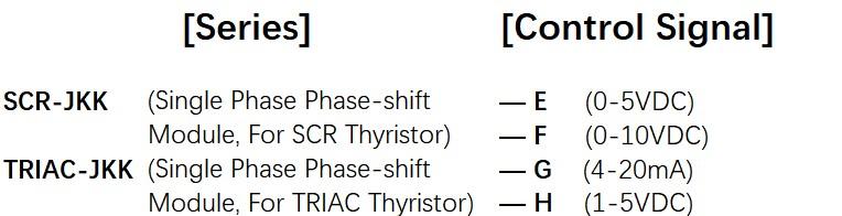How to order SCR-JKK, TRIAC-JKK Series Voltage Power Regulator
