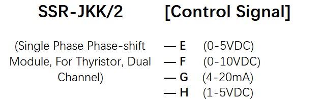 How to order SCR-JKK/2 Series Voltage Power Regulator