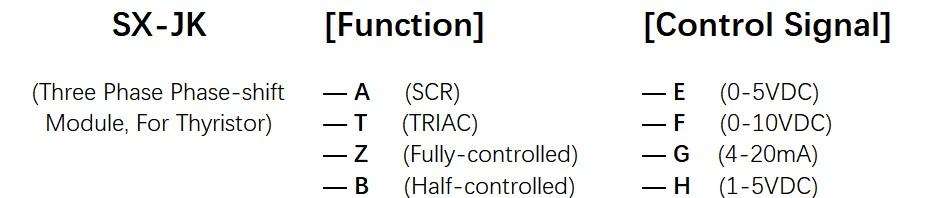 How to order SX-JK Series Voltage Power Regulator