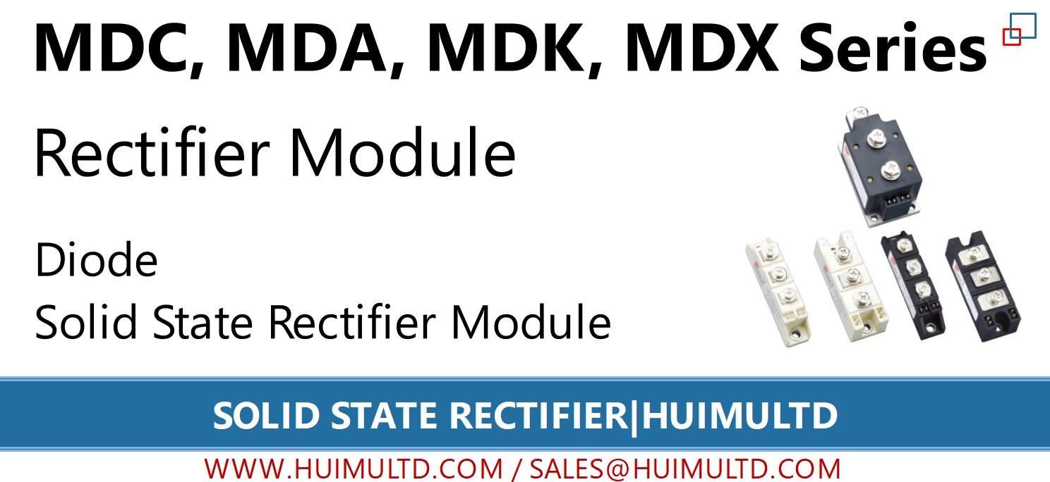 MDC, MDA, MDK, MDX Series Solid State Rectifier