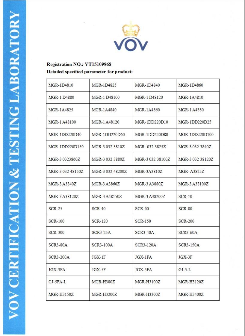 固态继电器 CE证书 2