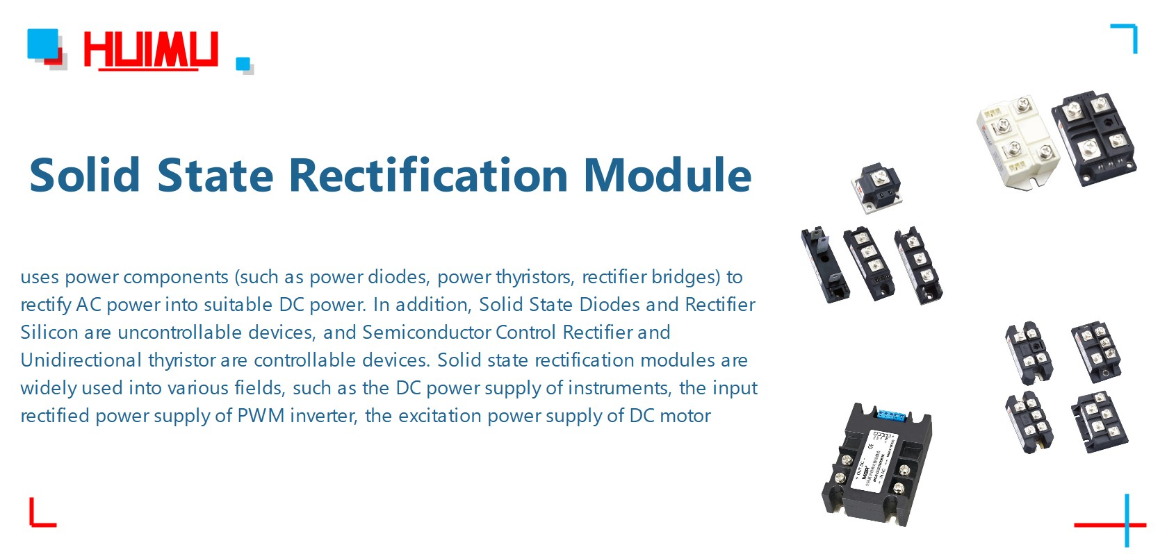 What is Solid State Rectification Module? More detail via www.@huimultd.com