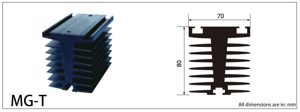MG-T SERIES HEAT SINK Diagram