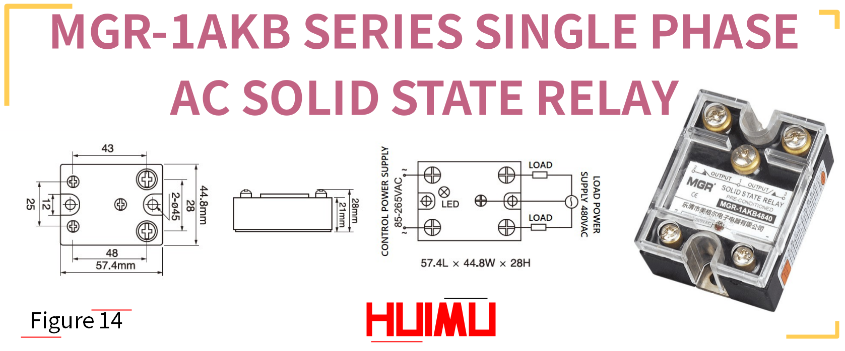 MGR-1AKB SERIES SINGLE PHASE AC SOLID STATE RELAY