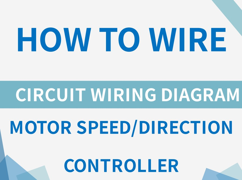 How to wire motor speed or direction controller?