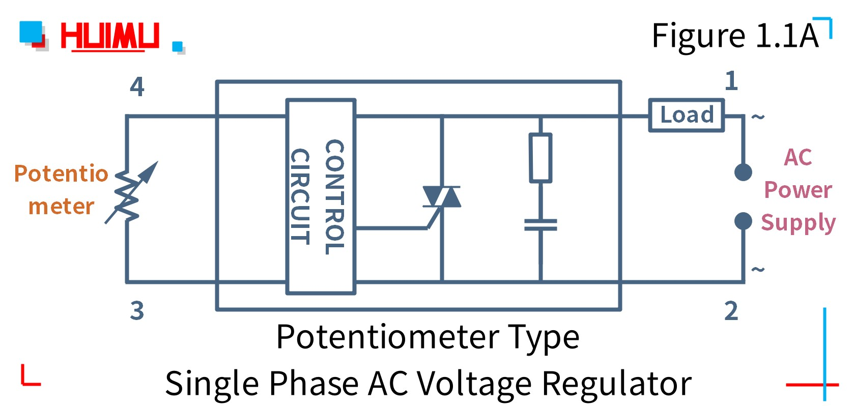 How to wire MGR mager MGR-R40A potentiometer type single phase AC voltage regulator? More detail via www.@huimultd.com