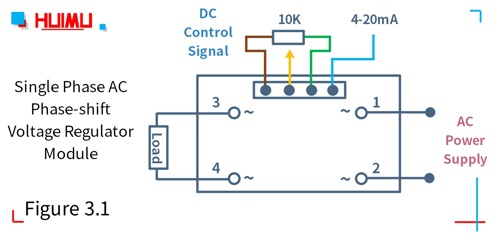 How to wire MGR mager MGR-DTY-F-22-70A-EG single phase AC phase-shift voltage regulator? More detail via www.@huimultd.com