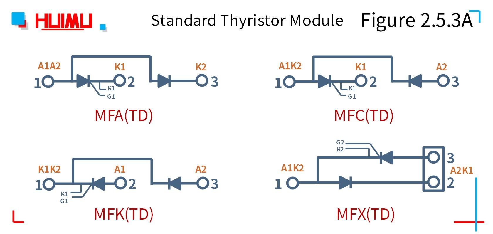 MGR_mager_MFx(TD)_series_standard_thyristor-rectifier_hybrid_module_citcuit_wiring_diagram
