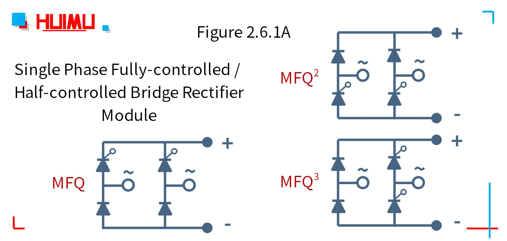 MGR_mager_MFQ_seriese_single_phase_fully-controlled_/_half-controlled_bridge_rectifier_module_citcuit_wiring_diagram