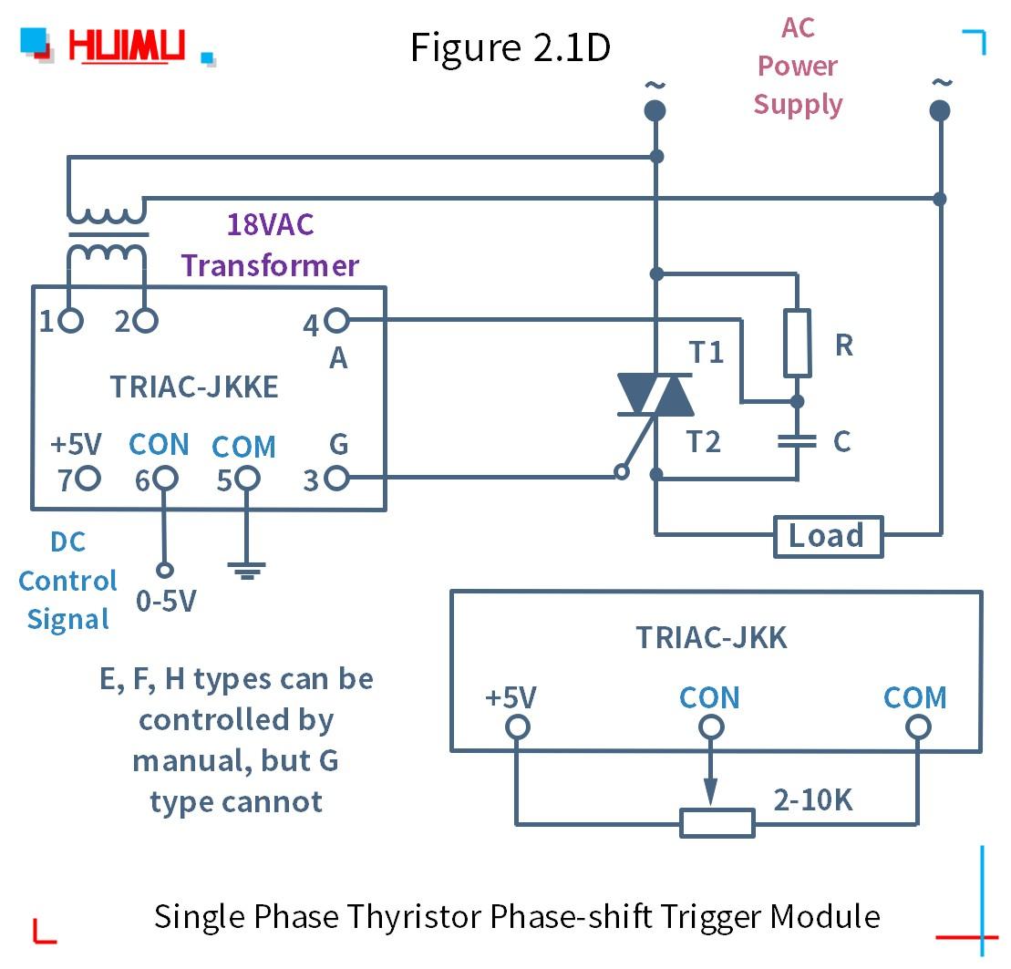 How to wire MGR mager TRAIC-JKK 단상 사이리스터 위상 편이 트리거 모듈 (static dv/dt improved version)? More detail via www.@huimultd.com