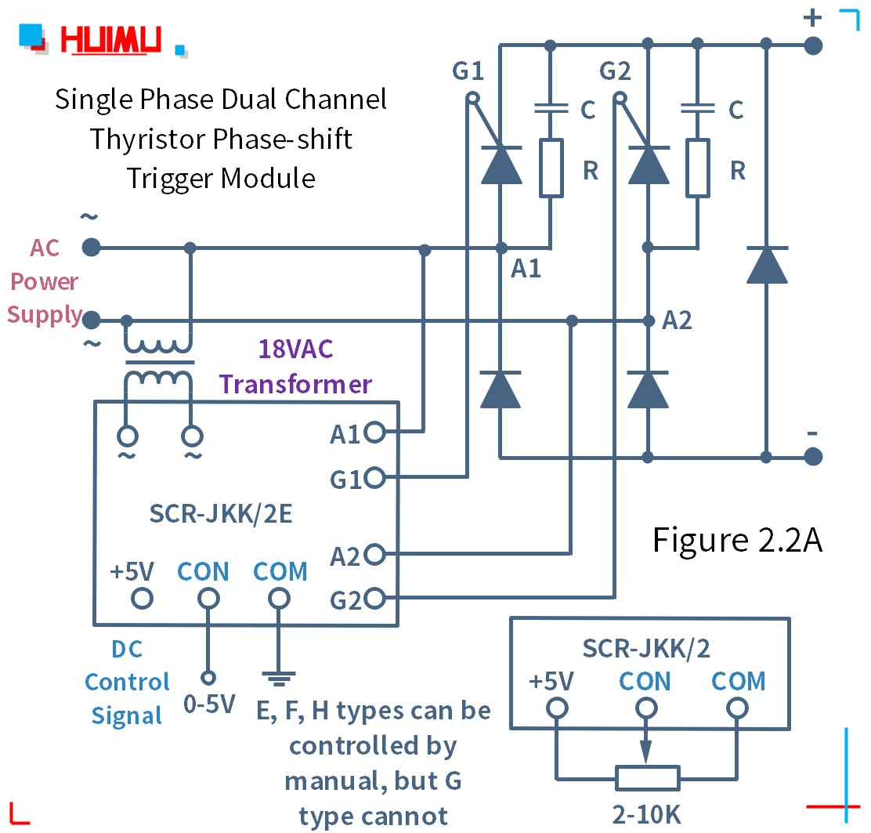 How to wire MGR mager 단상 듀얼 채널 사이리스터 위상 편이 트리거 모듈 (SCR-JKK/2)? More detail via www.@huimultd.com